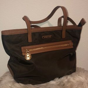 Michael Kors Brown Canvas Tote